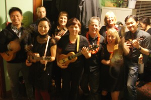 The Ukesters are the Ruby's Ukes Ukulele School performance group, the next step for students who would like to get out there and perform! By invitation.